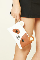 Forever 21 FOREVER 21+ Smiling Puppy Face Clutch