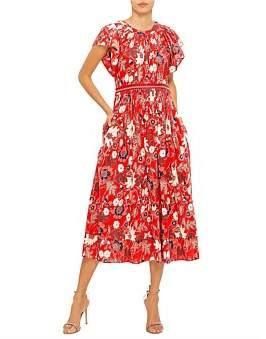 Ulla Johnson Handstitched Indone Lottie S/L Cotton Maxi Dress