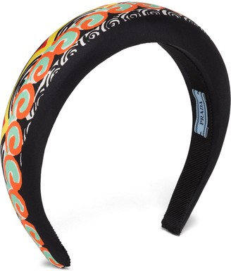 Prada Patterned Padded Headband