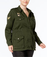 Melissa McCarthy Trendy Plus Size Patched Cargo Jacket