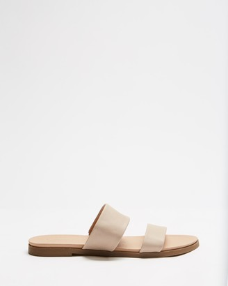 Spurr Women's Neutrals Sandals - Jaye Comfort Slides - Size 6 at The Iconic