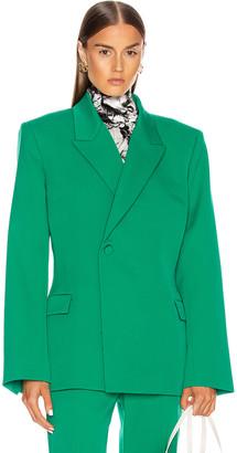 Balenciaga Waisted Jacket in Emerald Green | FWRD
