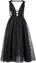 Carolina Herrera dotted tulle midi dress - women - Silk/polyester - 10