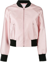 RED Valentino classic bomber jacket - women - Silk/Polyamide/Polyester/Viscose - 44