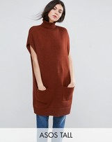 ASOS Tall ASOS TALL Tunic With High Neck in Knit