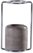 Torre & Tagus Grey/Chrome Short Framework Vase