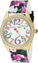 Betsey Johnson Women's Quartz Metal and Silicone Casual WatchMulti Color (Model: BJ00048-202)
