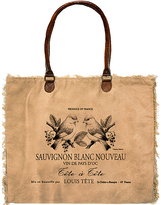 Vintage Addiction Camel Wine Label with Birds Market Tote