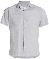 Nominee Short-Sleeve Distressed Stripe Camp Shirt