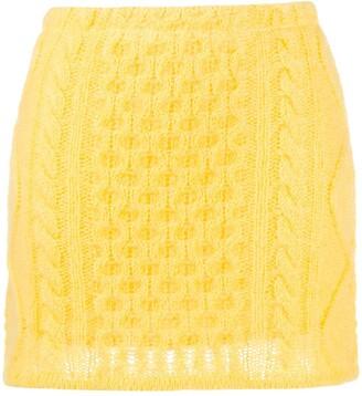 Laneus Cable-Knit Mini Skirt