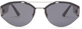 Christian Dior Sunglasses - Oval-aviator Metal Sunglasses - Mens - Black