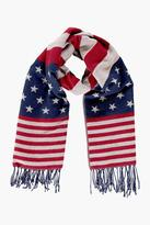 Boohoo Hope USA Flag Oversized Scarf