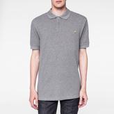 Paul Smith Men's Grey Marl Zebra Logo Polo Shirt