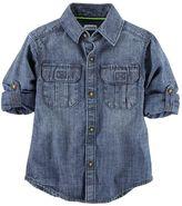 Carter's Toddler Boy Roll-Tab Woven Denim Button-Down Shirt