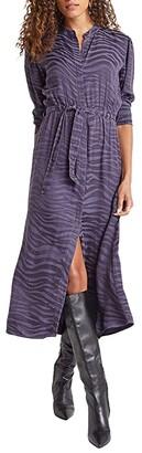 Bella Dahl Maxi Shirtdress (Graphite) Women's Dress
