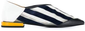 Toga Pulla striped pointed toe loafers