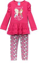Children's Apparel Network Frozen Anna & Elsa Pink Tunic & Leggings - Toddler & Girls
