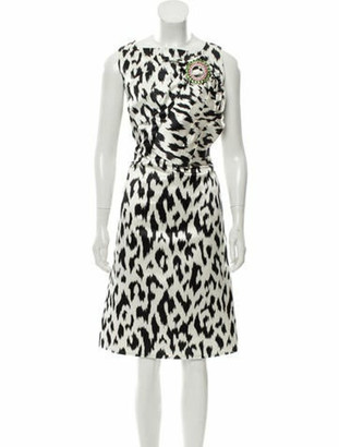 Calvin Klein S/S 2019 Graphic Leopard-Print Dress w/ Tags White S/S 2019 Graphic Leopard-Print Dress w/ Tags