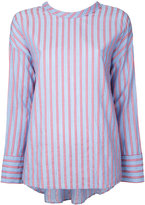 CITYSHOP tie back stripe shirt - women - Cotton - One Size