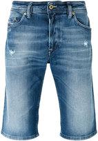 Diesel ripped detail denim shorts - men - Cotton/Spandex/Elastane - 32