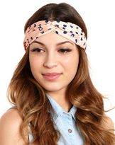 Charlotte Russe Twisted Polka Dot Headwrap