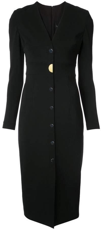 Cushnie V-neck midi dress
