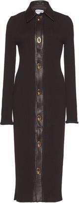 Bottega Veneta Collared Knitted Wool-Blend Midi Dress
