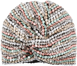 MaryJane Claverol Sequin-Embellished Turban