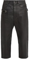 Rick Owens Tapered-leg Cropped Coated Jeans