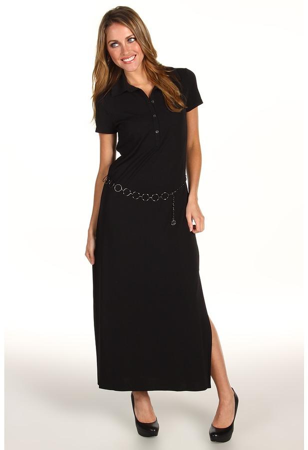Anne Klein S/S Maxi Dress (Black) - Apparel