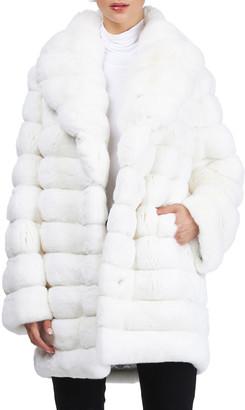 Gorski Horizontal Chinchilla Stroller Coat