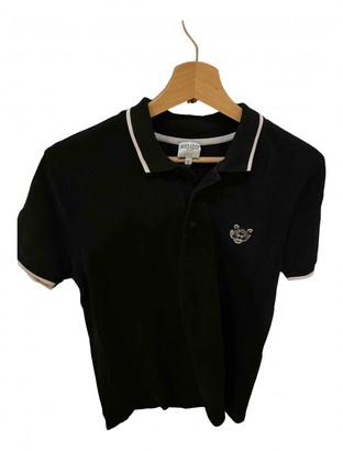 Kenzo Black Cotton Polo shirts