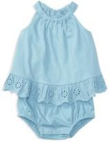 Ralph Lauren Girls' Bubble Bodysuit - Baby