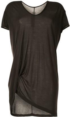 Rick Owens Hiked draped long T-shirt