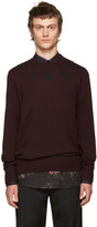 Givenchy Burgundy Wool Stars Sweater