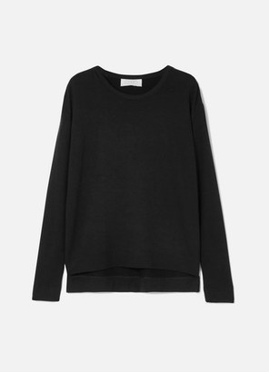 CALÉ Camille Stretch-terry Sweatshirt - Black