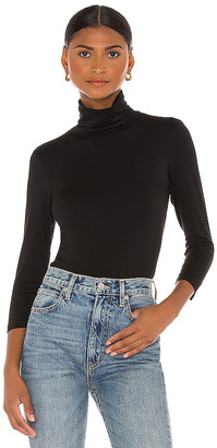 L'Agence Aja Turtleneck 3/4 Sleeve Top
