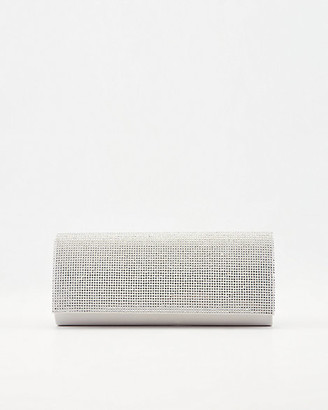Le Château Jewel Embellished Satin Flapover Clutch