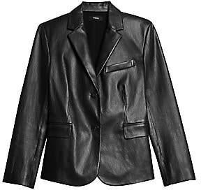 Theory Women's Classic Leather Shrunken Jacket