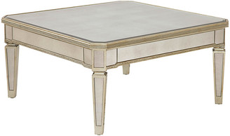 One Kings Lane Alicia Mirrored Table - Champagne Silver