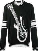 Dolce & Gabbana intarsia guitar knit jumper - men - Silk - 46