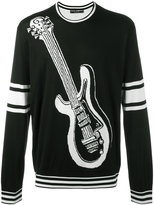 Dolce & Gabbana intarsia guitar knit jumper - men - Silk - 48