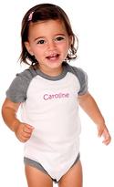 Princess Linens Gray & White Personalized Bodysuit - Infant