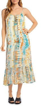 Karen Kane Sleeveless Tie-Dye Midi Dress