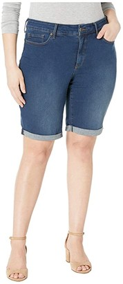 NYDJ, Plus Size Size Plus Size Briella Cuff Roll Shorts in Cooper (Cooper) Women's Shorts
