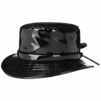 McBurn Monica Patent Rain Hat Women - Fishing Cloth with Lining Summer-Winter - One Size Black