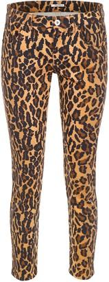 Miu Miu Leopard Print Cropped Jeans