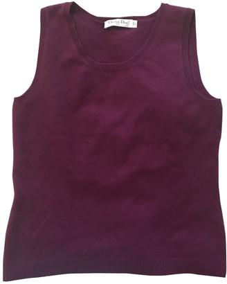 Christian Dior Purple Cashmere Top for Women
