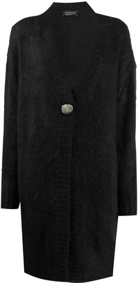 Gianluca Capannolo Encrusted-Button Mohair Cardigan
