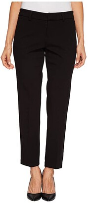 Liverpool Petite Kelsey Straight Leg Trousers in Super Stretch Ponte Knit (Black) Women's Casual Pants